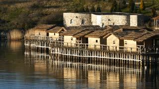 Bay of Bones Museum at Lake Ohrid in Macedonia