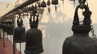 Bells at the golden mount in Bangkok, Thailand