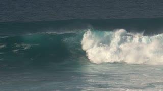 Big waves rolling at the coast of Maui, Hawaii