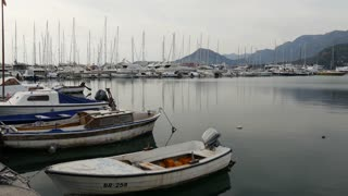 Boats in the harbour of Bar a coastal town in southern Montenegro