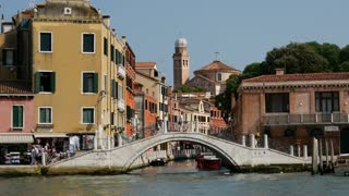 Bridge and Grand Canal in Venice Italy