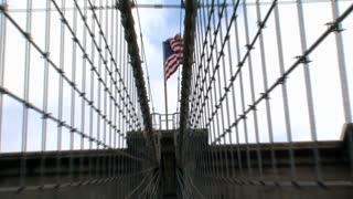 Brooklyn bridge NYC zoom out