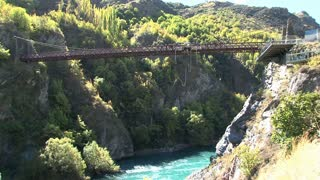 Bungy jumping in Queenstown, New Zealand