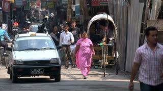 Busy morning in thamel Kathmandu Nepal