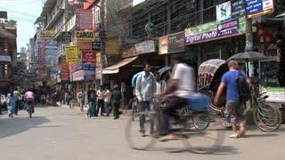 Busy morning in Thamel Kathmandu