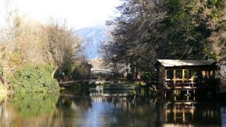 Cabin next to a lake in Saint Naum Macedonia