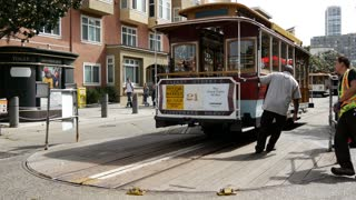 Cable Car Turnaround stop at taylor street fisherman wharf in San Francisco