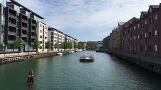 Canal cruise in Kobenhavns Havn Copenhagen Denmark