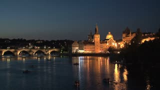 Charles Bridge at night, Prague