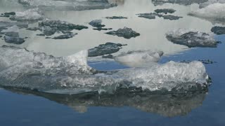Close up from Ice at the Jökulsárlón Glacier lagoon in southeast Iceland