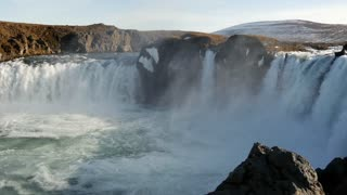 Close up from the Godafoss waterfall in Iceland