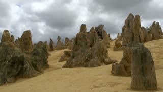 Close up limestones landscape time lapse of The Pinnacles in Western Australia