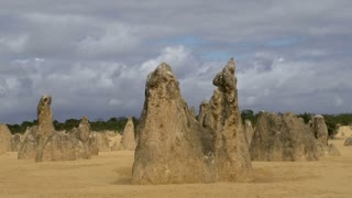 Close up Pan of The Pinnacles in Western Australia