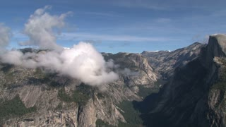 Clouds timelapse above Yosemite National Park