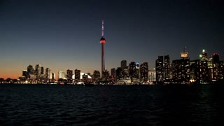 CN Tower at night, Toronto, Canada