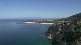 Coast line in front of skala marion Thassos Greece