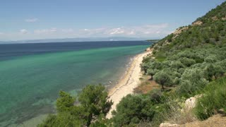 Coastline and beach at Thassos island, Greece