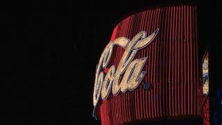 Coca cola sign Las Vegas at night