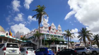 Colorful Royal Plaza Mall in Oranjestad Aruba