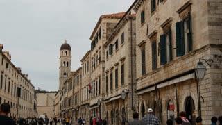 Crowd in the streets of Dubrovnik Croatia