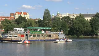 Cruise ship at the vltava river, Prague