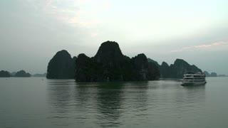 Cruise ship in Ha Long Bay