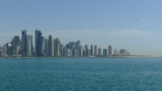 Doha Qatar skyline in the morning