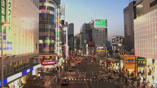 Downtown time lapse of Shinjuku one of the 23 special wards of Tokyo, Japan. It is a major commercial and administrative centre,""