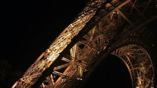 Eiffel tower lift at night