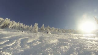 Falling while skiing down