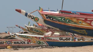 Fishing boats in Banjul Gambia