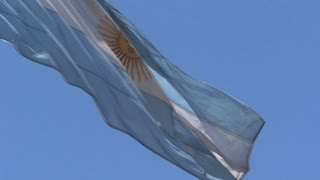 Flag Argentina in Buenos Aires