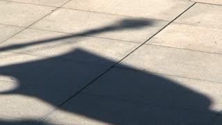 Flag shadow, Montevideo