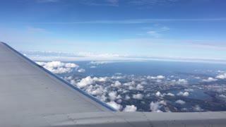 Flying above Estonia towards Tallinn