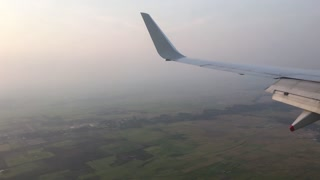 Flying in to Siem Reap Cambodia