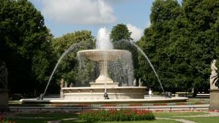 Fountain at the The Saxon Garden in Warsaw Poland