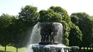 Fountain in Vigeland sculpture park Oslo Norway