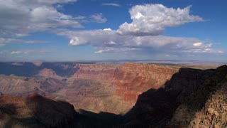 Grand Canyon shadow and clouds timelapse on a sunny day