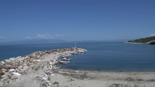 harbor and beach in skala marion Thassos Greece