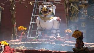 Hindu offer temple in Kathmandu,Nepal