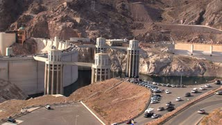 Hoover Dam southeast of Las Vegas
