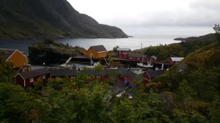 Houses in Nusfjord one of Norway's oldest fishing villages
