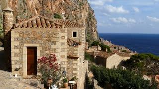 Houses in the village Monemvasia Greece
