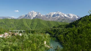 Jablanica in central Bosnia and Herzegovina situated on the Neretva river and Jablanica lake