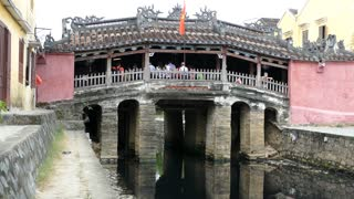 Japanese Covered Bridge during the day in Hoi An Vietnam