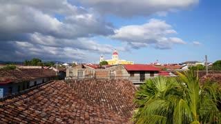 La Cat̩dral de Granada seen from Hotel La Pergola in Granada Nicaragua