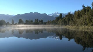 lake matheson in New Zealand