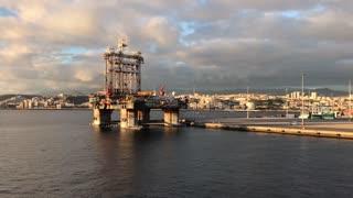 Leaving the harbour of Las Palmas Gran Canaria