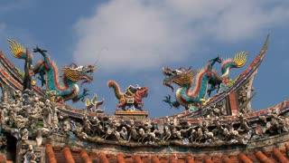 Longshan Temple roof timelapse
