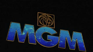 MGM sign Las Vegas at night